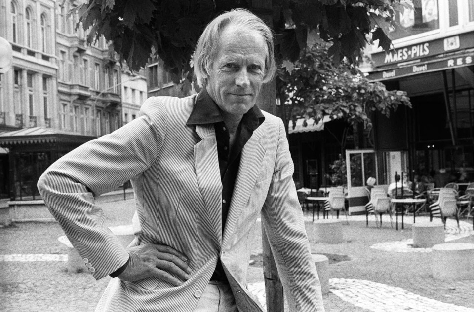 BELGIUM - JUNE 15: Photo of George MARTIN; Posed portrait of producer George Martin (Photo by Rob Verhorst/Redferns)