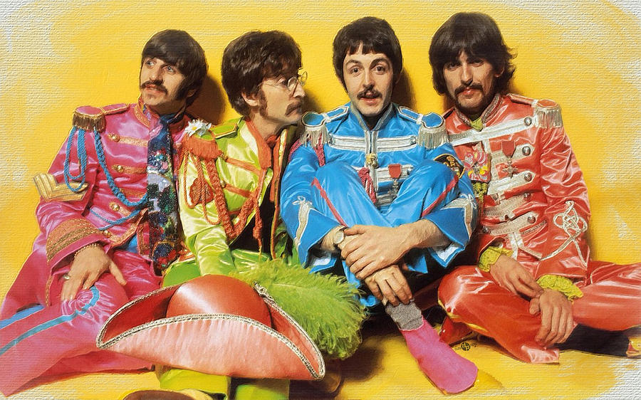 Beatles, Sgt. Pepper's. cover, stonemusic