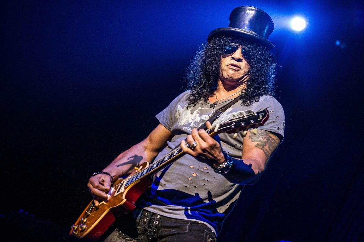 Guns N' Roses, Slash, Duff McKagan, Richard Fortus, Eddie Trunk, Brain Mantia, Classic Rock, stonemusic.it