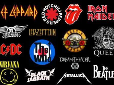 loghi famosi rock